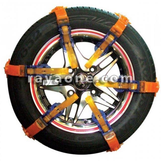 زنجیر چرخ پلیمری 12 بندی نارنجی