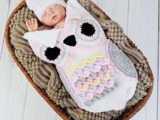 کیسه خواب نوزادی قلاب بافی