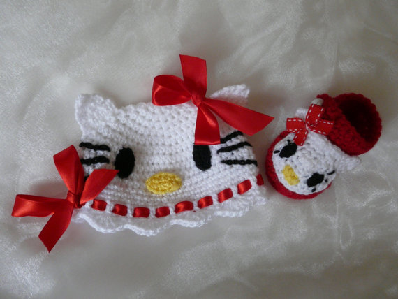 کلاه نوزادی بافتنی مدل کیتی کد F-EE