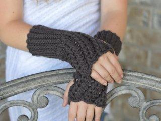 دستکش دخترانه قلاب بافی