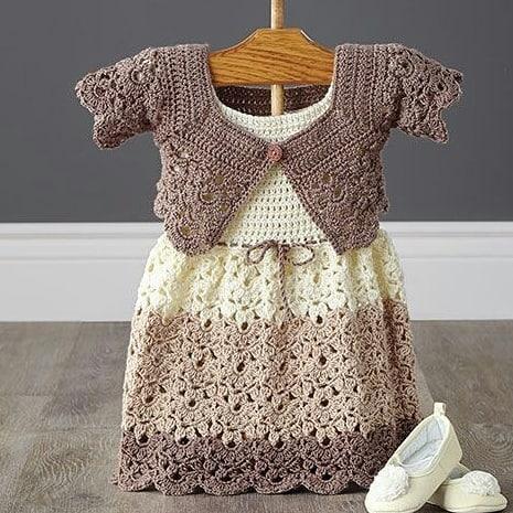 پیراهن نوزادی بافتنی با ژاکت مدلzz-PP