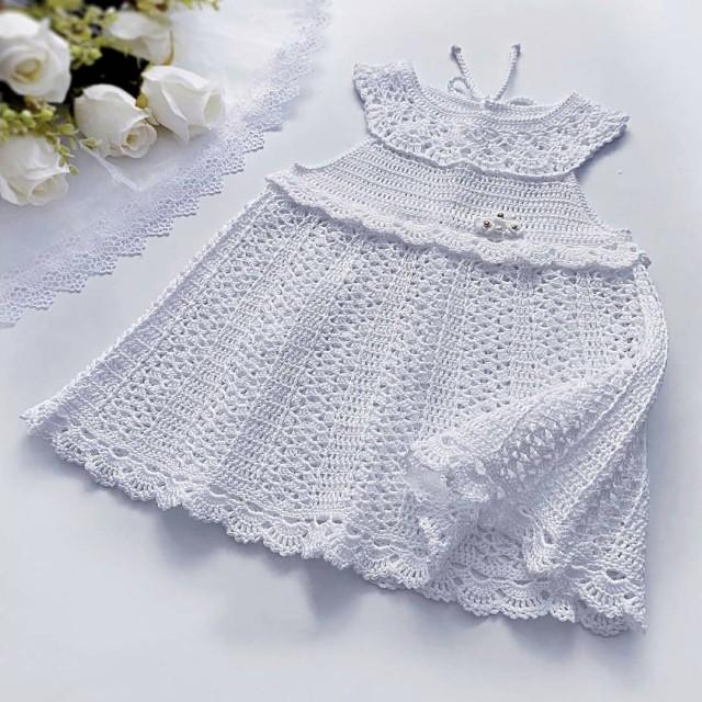 پیراهن نوزادی بافتنی  مدل6-PP-SS