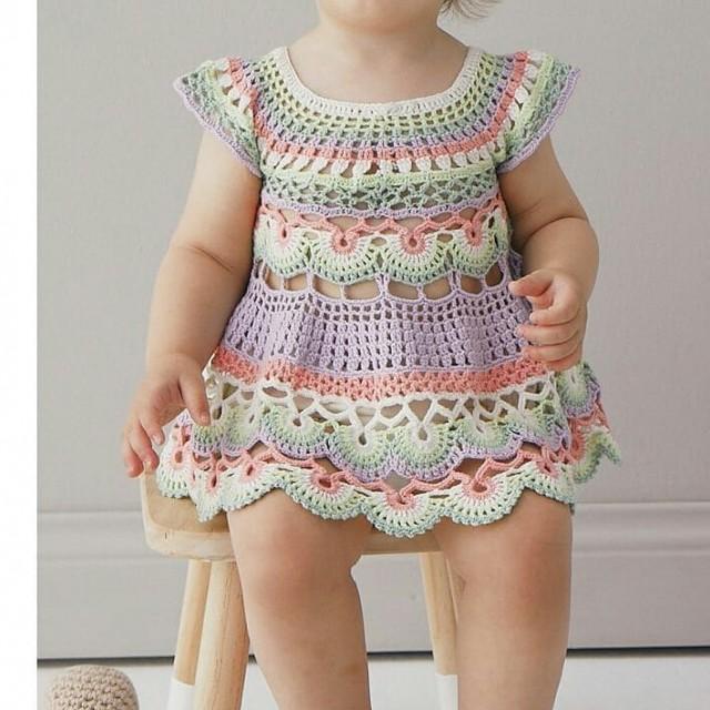 پیراهن نوزادی بافتنی  مدل77-PP-RI