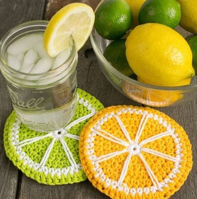 زیر لیوانی طرح لیمو بسته2عددی