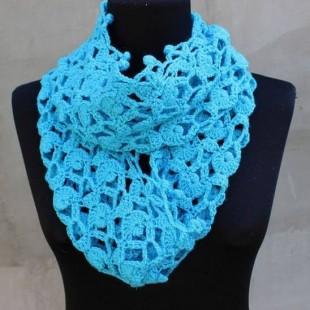 دستمال گردن زنانه قلاب بافی