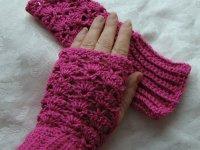 دستکش زنانه قلاب بافی