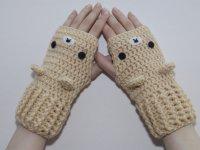 دستکش قلاب بافی