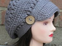 کلاه دخترانه قلاب بافی