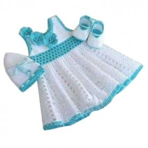 پیراهن نوزادی بافتنی مدل  VV-PP
