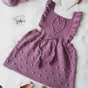 پیراهن نوزادی بافتنی  مدلPP-JJ