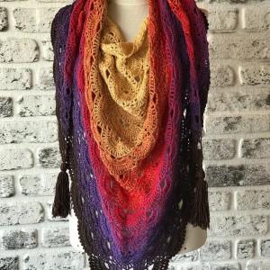 روسری بافتنی یارن مدل FTI-TYU