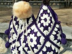 کیف زنانه دوشی قلاب بافی