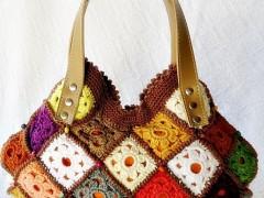 کیف زنانه مجلسی قلاب بافی