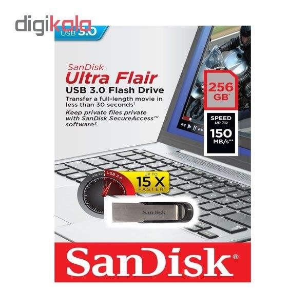 فلش مموری سن دیسک مدل Ultra Flair CZ73 ظرفیت 256 گیگابایت