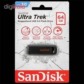 فلش مموری سن دیسک مدل  Ultra Trek cz490 ظرفیت 64 گیگابایت