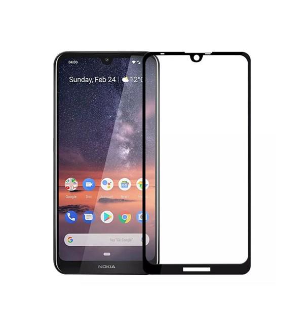 محافظ صفحه نمایش فول چسب، گلس، مناسب برای گوشی موبایل نوکیا 3.1plus