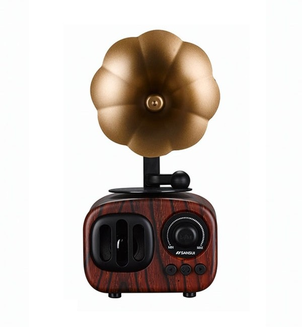 اسپیکر بلوتوث طرح گرامافون مدل  Wireless Speaker AS90