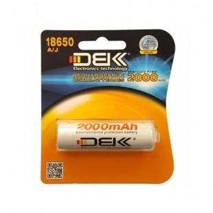 باتری لیتیوم یون قابل شارژ DBK کد 18650 ظرفیت 2000 میلی آمپر ساعت