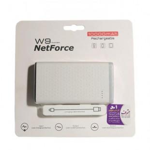 شارژر همراه،پاور بانک نت فورس مدل w9 با ظرفیت 10000 میلی آمپر ساعت