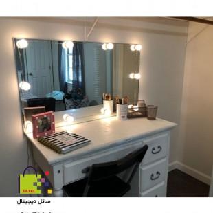 لامپ آینه 10 تایی سفید، آینه گریم، آینه چراغ دار