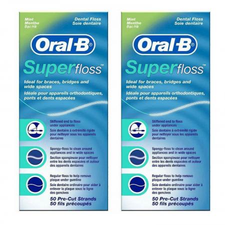 نخ دندان سوپر فلاس اورال بی   ( بسته 2 عددی )