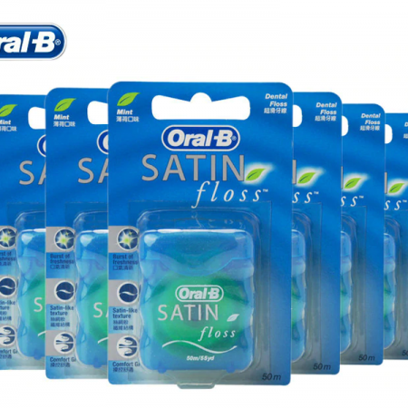 نخ دندان اورال بی مدل SATIN (بسته 6 عددی )