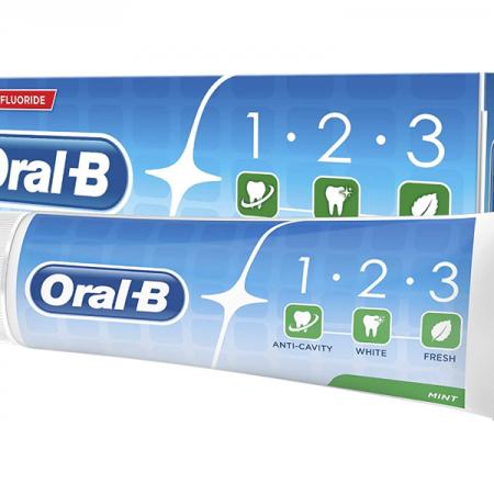 خمیر دندان اورال بی مدل 1.2.3 حجم 100ml