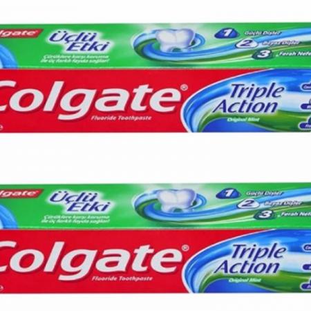 بسته 2 عددی خمیر دندان کلگیت مدل Triple Action (1-2-3)