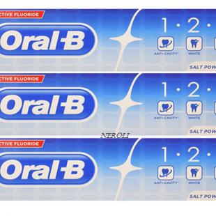 خمیر دندان سفید کننده اورال بی مدل 1.2.3 ( بسته 3 عددی )
