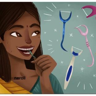 نخ و خلال دندان کمانی اورکلین