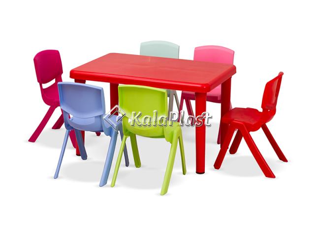 ست میز و صندلی کودک 6 نفره سحر