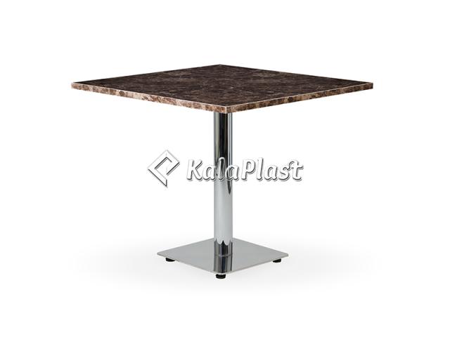 میز طرح سنگ با پایه استیل