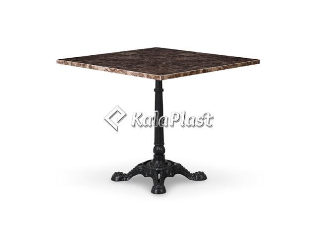 میز طرح سنگ با پایه آنتیک