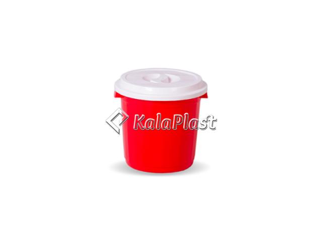 سطل گرد کوچک دربدار پلاستیکی کد 510
