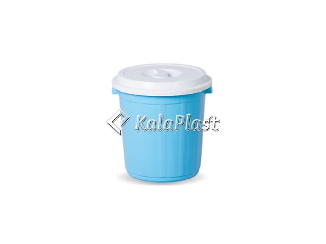 سطل گردکوچک دربدار پلاستیکی کد 600