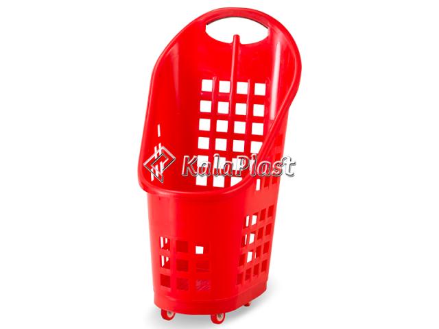 سبد خرید چرخدار فروشگاهی تمام پلاستیکی لستر