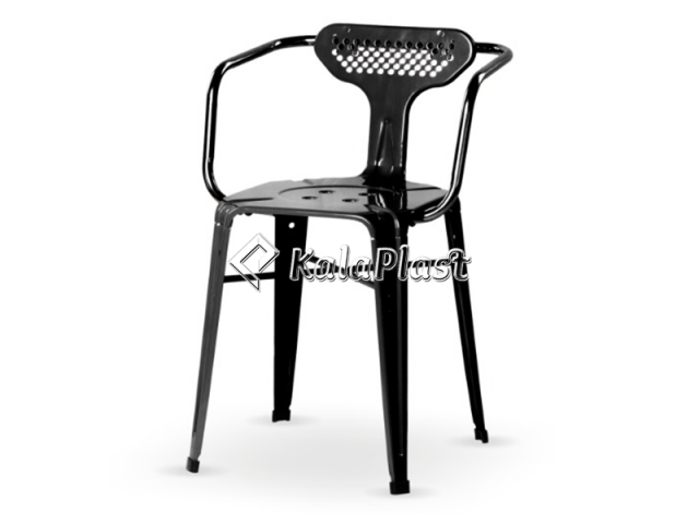 صندلی بیتا پشتی دار و دسته دار تمام فلزی