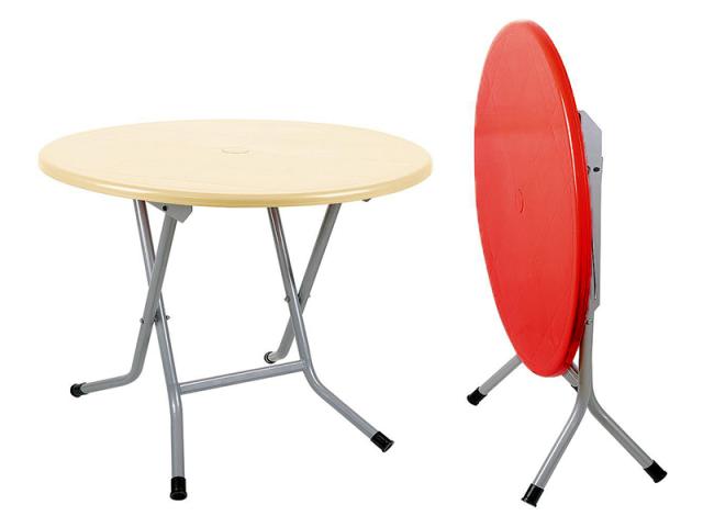 میز 4 نفره گرد تاشو با پایه فلزی کد 722