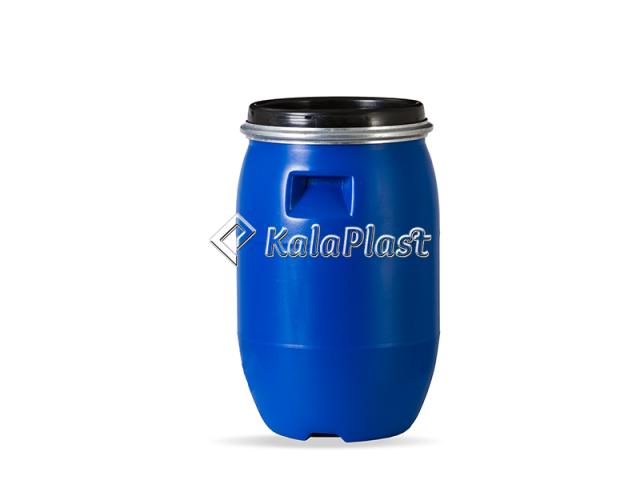 بشکه پلاستیکی 30 لیتری ضخیم با کمربند فلزی