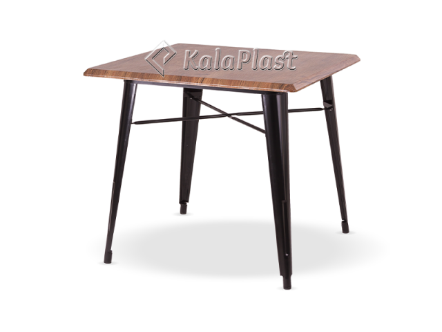 میز 4 نفره تولیکس با پایه فلزی کدcs80