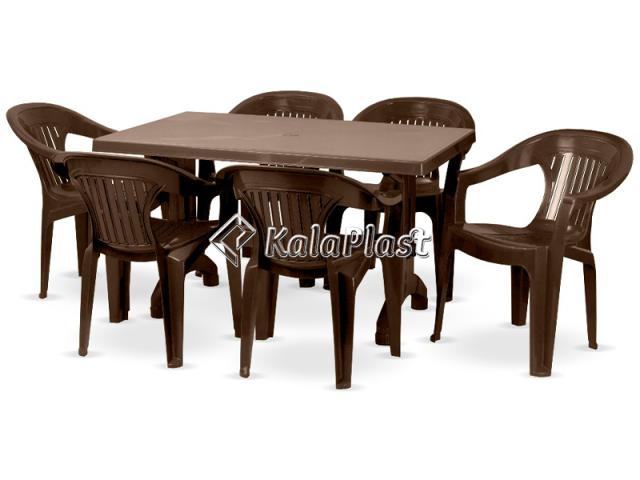 ست میز و صندلی 6 نفره ارکیده