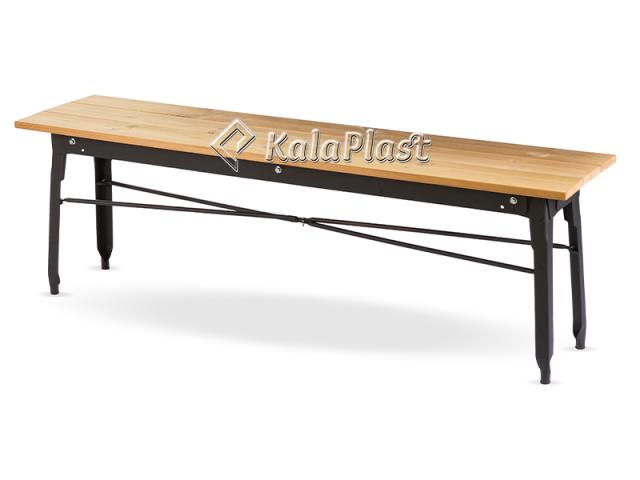 نیمکت فلزی با رویه چوبی