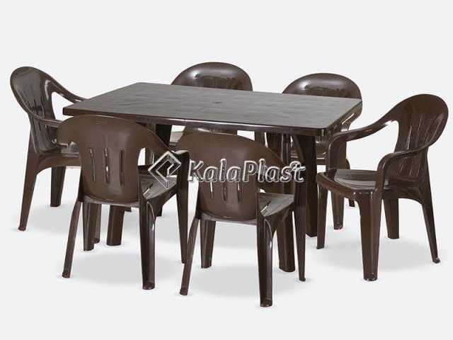 ست میز و صندلی 6 نفره ارغوان 208 112