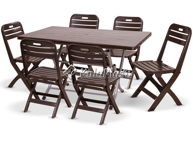 ست میز و صندلی 6 نفره تاشو لوتوس 218 109