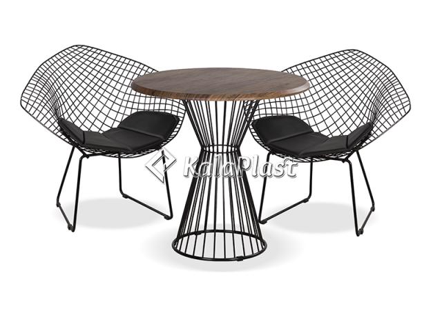 ست میز و صندلی فلزی 4 نفره دیاموند