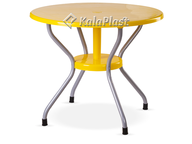 میز 4 نفره گرد پایه فلزی کد 922