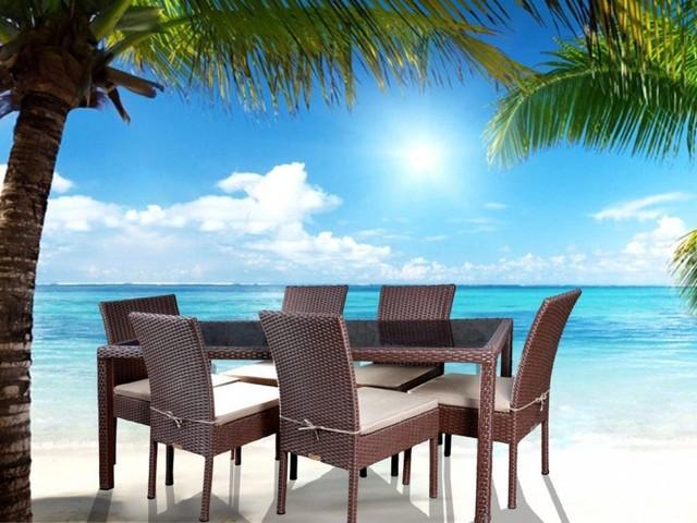 ست میز و صندلی کارنز 6 نفره (میز 150 cm)