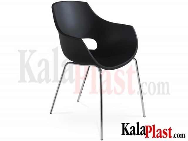 صندلی دسته دار پلی کربنات اپال پایه آلومینیومی
