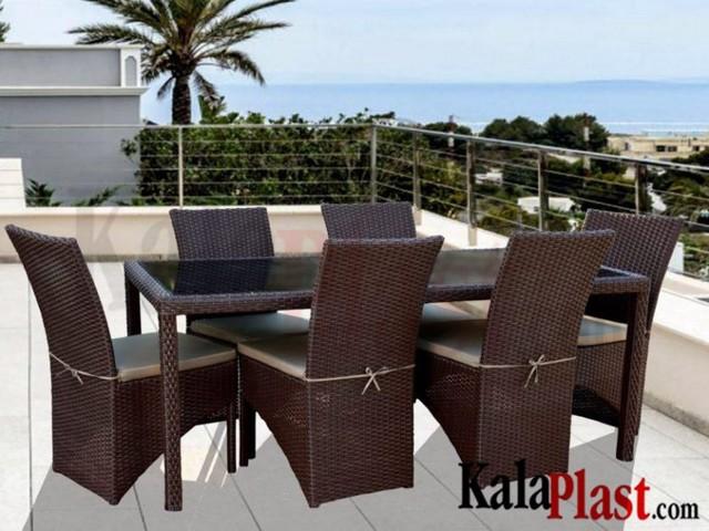ست میز و صندلی فول کارنز 6 نفره (180 cm)