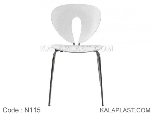 صندلی بدون دسته پلی کربنات لانژ با پایه آلومینیومی کد N115